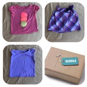 3 Shirt Bundle Girls 2T